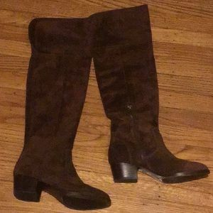 Frye over the knee suede Shirley boots